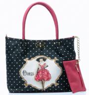 Женская сумка из гобелена со стразами 3 в одном