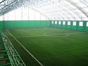Профессиональное строительство  футбольного поля с натуральным и искус