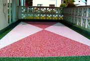 Каменный ковер – наливной пол из цветного песка и гальки для любого ви